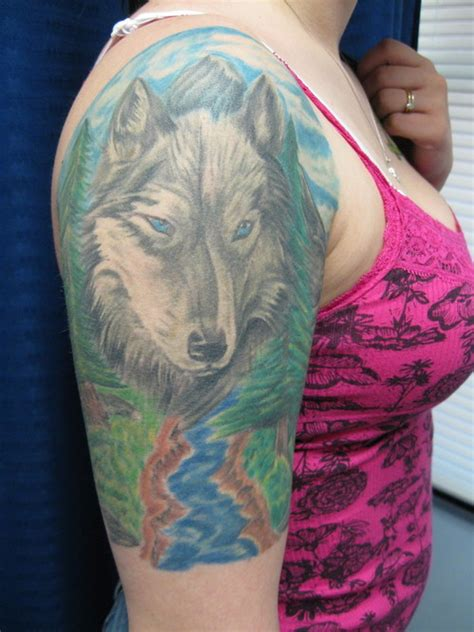 tattoo arm wolf lone wolf tattoos on arm tattoo pictures