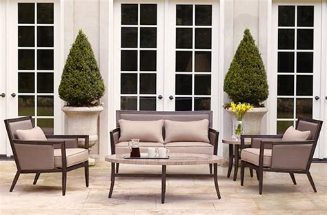 brown outdoor furniture brown patio furniture