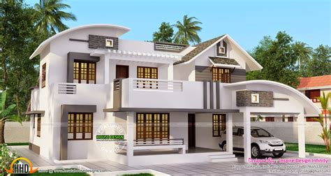 double floor modern style home design 2015 double storied modern home kerala home design and floor