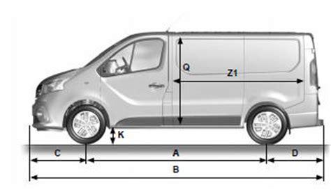 2001 dimensions renault trafic nissan primastar opel
