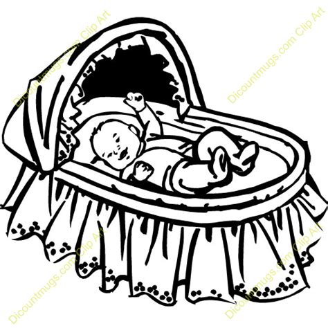 Crib Drawings by Baby Cradle Clipart Clipart Suggest