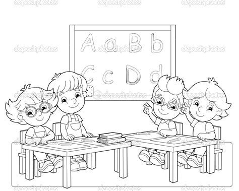coloring pages of a school classroom classroom coloring pages