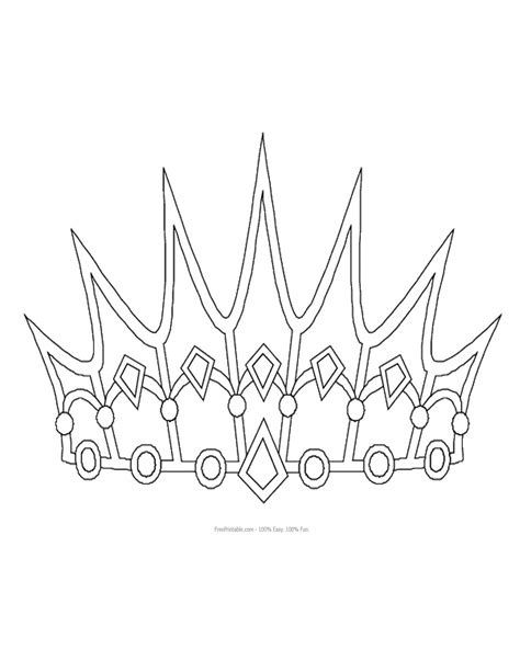 free printable princess crown template free printable princess crown shapes print princess