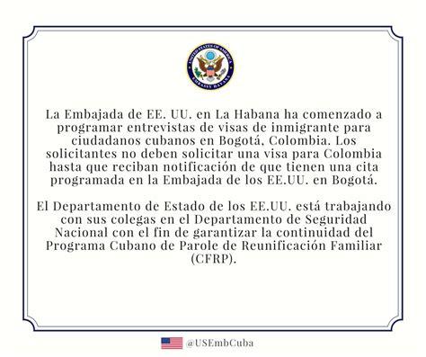 visas de inmigrante embajada de los estados unidos en embajada de estados unidos en la habana comienza a