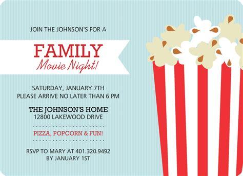 family movie night flyer template kids party pinterest