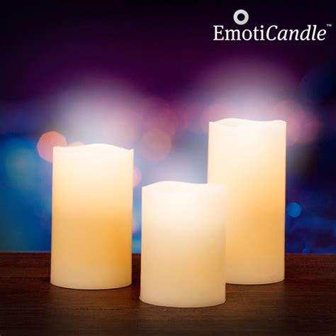 candele al led candele led sensor emoticandle confezione da 3