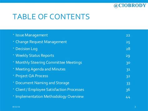 Ciobrody Pmo Methodology Overview Steering Committee Presentation Template