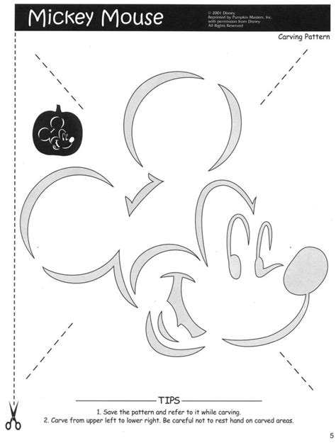 Mickey Mouse Pumpkin Template pattern34