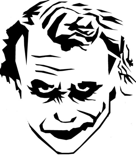 joker stencils clipart best