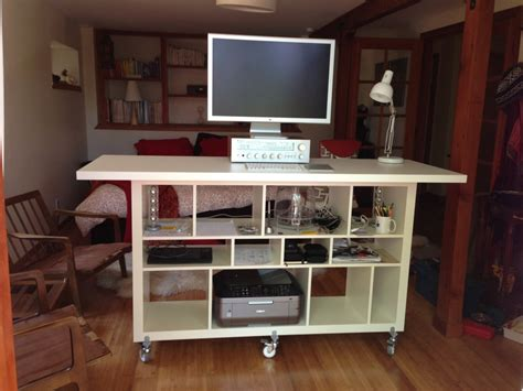 Workspace Cool Home Office With Ikea Expedit Desk For Expedit Standing Desk