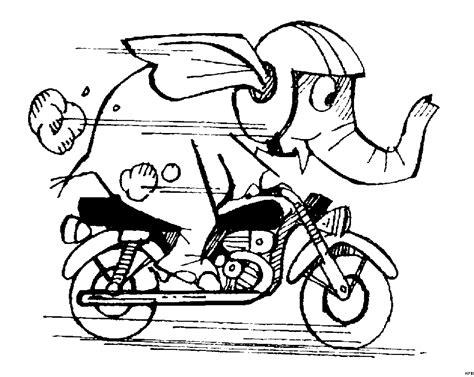 Motorrad Comics Bilder Kostenlos by Elefant Auf Einem Motorrad Ausmalbild Malvorlage Comics
