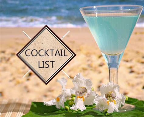 Sand List cocktail list sea sand