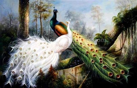 Lukisan Burung Custom peacock paintings 022