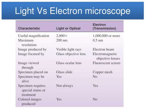 Difference Between Light Microscope And Electron Microscope by Microscope