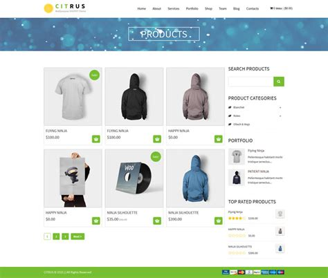 shopify themes with sidebar citrus the amazing one page parallax shopify theme