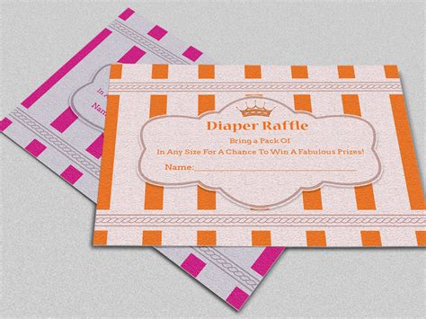 raffle card template crown raffle card template card templates on