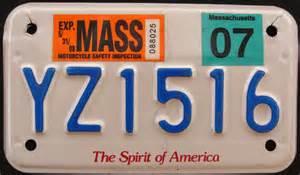 massachusetts motorcycle license plates