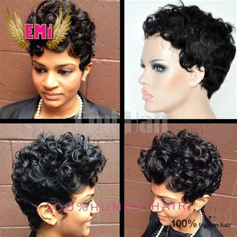 mohawks with tight human hair curls tight curly bob brazilian human curly hair wigs short hair
