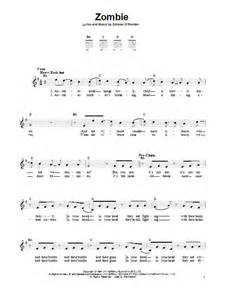 Comfortably Numb Chords And Lyrics Zombie Sheet Music By The Cranberries Easy Guitar 157398