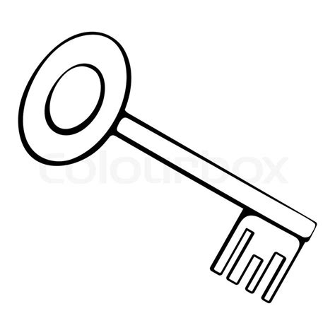 Key Outline Clip Free by Black And White Outline Of The Key Stock Vector Colourbox
