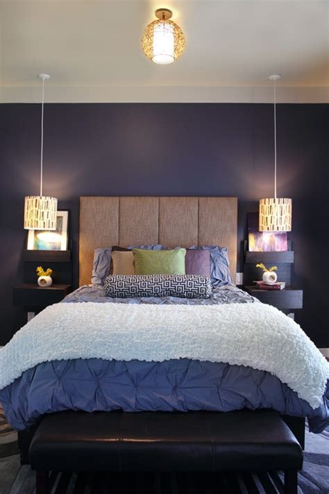 purple lights for bedroom amazing bedrooms with hanging bedside lights decoholic
