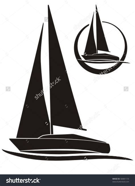 clipart vectors yacht vector clipart clipground