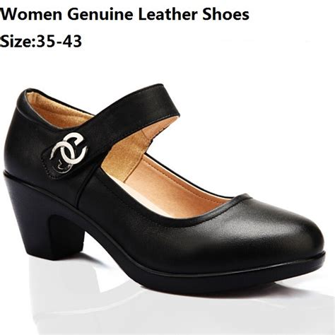 comfortable office shoes for women size 35 43 pumps women genuine leather shoes big size