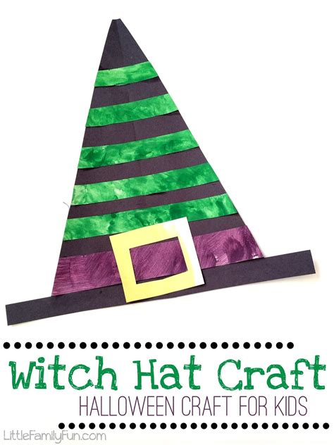 hat craft for family witch hat craft