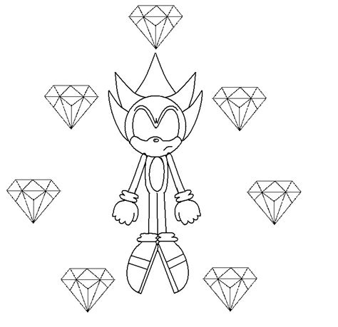 super sonic the hedgehog chaos emeralds coloring pages