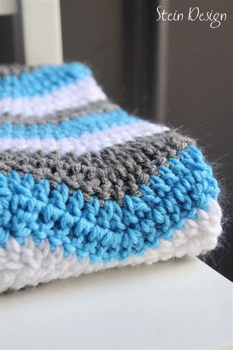 white pattern blanket crochet baby blanket soft ripple pattern white gray and