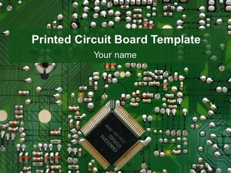 circuit card template printed circuit board template