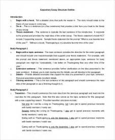 Expository Essay Format Exles by Essay Outline Exle 8 Sles In Pdf Word