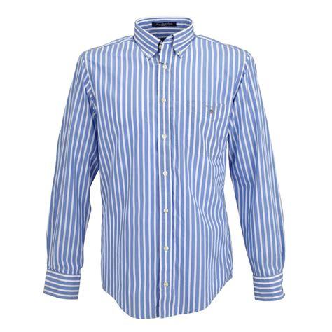 Stripe Shirt gant poplin shirt azure blue striped