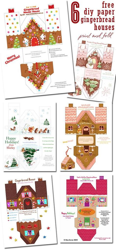 gingerbread house printable activities 6 free diy paper gingerbread houses gingerbread house