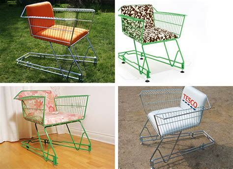 Shopping Chair by Recycled Shopping Cart Chair