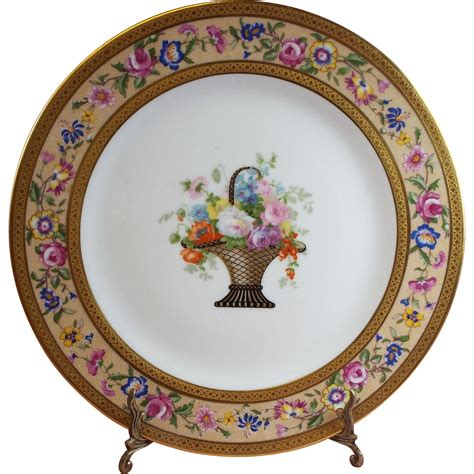 Cabinet Plates by Ahrenfeldt Limoges Cabinet Plates Set Of 12 From Olde