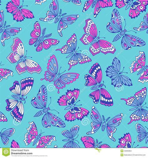 Decorative Butterflies by Seamless Pattern With Decorative Butterflies Stock Vector Image 53935964