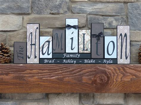 Customized Home Decor | home decor family name blocks living room home decor