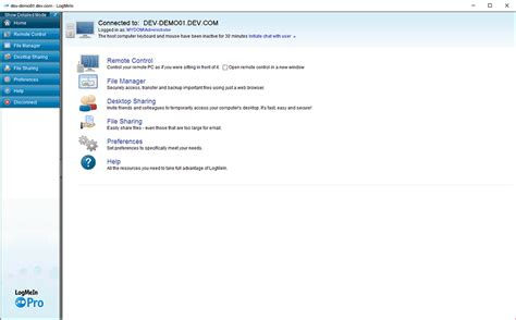 logmein console goverlan the best remote access software alternative to