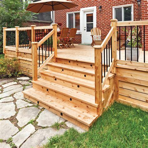 patio exterieur fabriquer un escalier de patio en 233 jardinage et