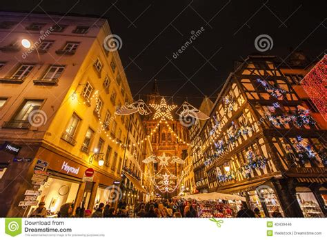 strasbourg christmas market editorial photo image