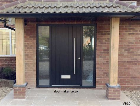 Contemporary Front Doors Oak Iroko And Other Woods Modern Black Front Doors