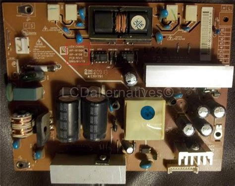 capacitors lg tv lg 22lh20 aip 0190a lcd tv replacement capacitors board not included lcdalternatives