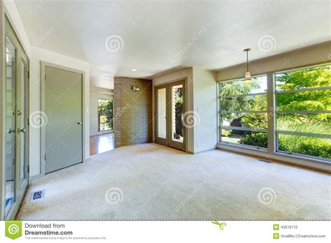living room with glass wall empty house interior living room with glass wall stock photo image of interior room 43516710