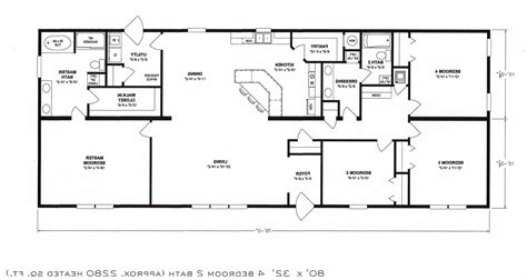 4 bedroom open floor plan ideas unique plans of including
