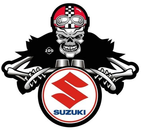 Coole Motorrad Sticker by Suzuki Dem Bones Cafe Racer Motorcycle Sticker