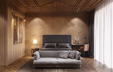 pareti rivestite in legno pareti in legno per la da letto 30 idee dal design