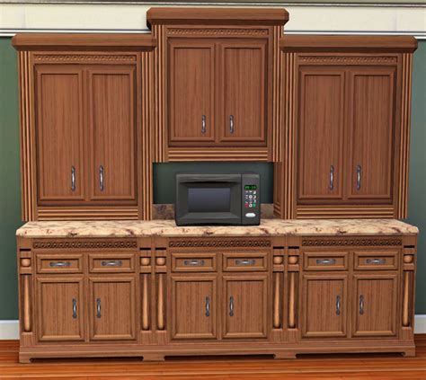 mod the sims shallow traditional wall cabinet