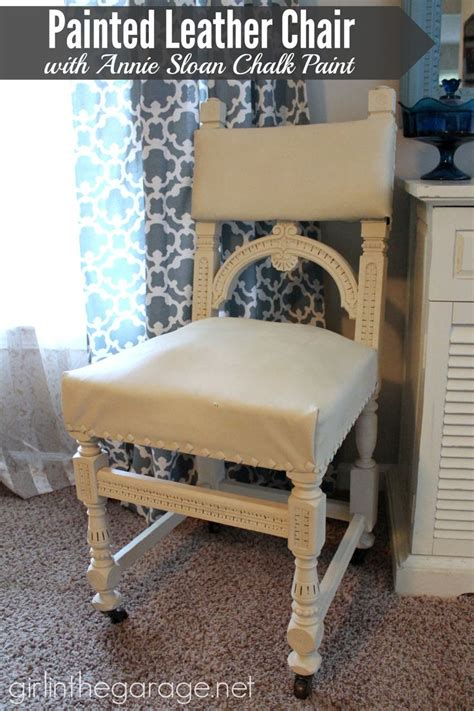 chalk paint leather painted leather chair makeover with sloan chalk