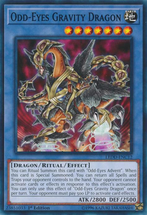 earthquake yugioh ledd enc12 odd eyes gravity dragon